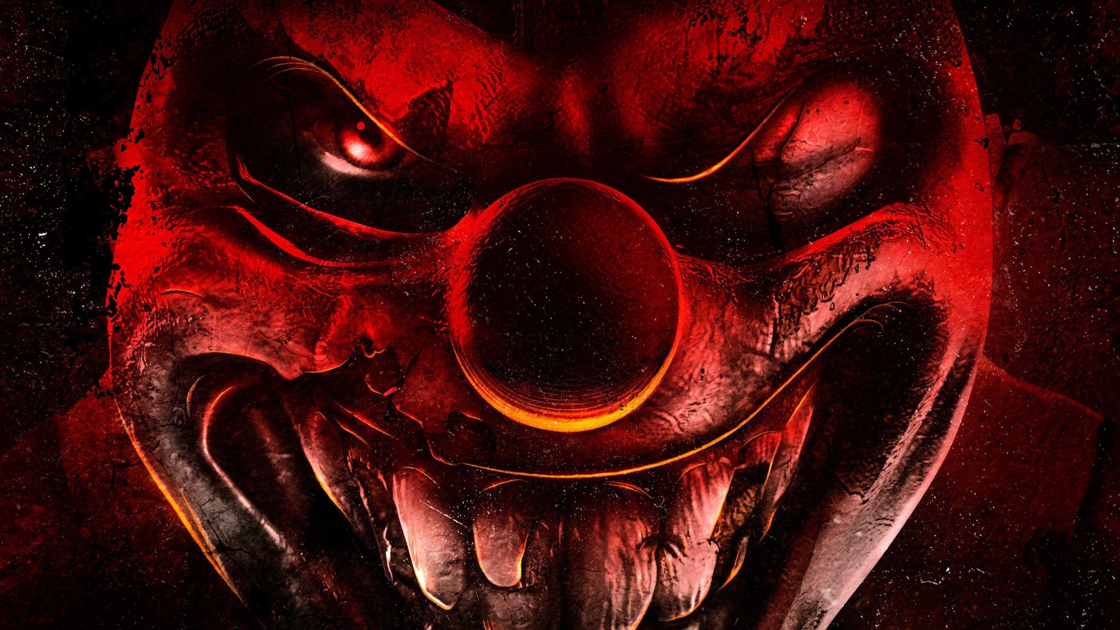 3840x2160 Twisted Metal 4k Free Hd Wallpaper Free Download Scary Clown Pics Scary Clowns Evil Clowns