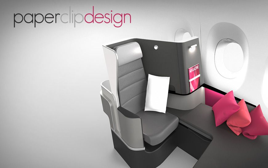 Paperclip Design- Butterfly Convertible Seating