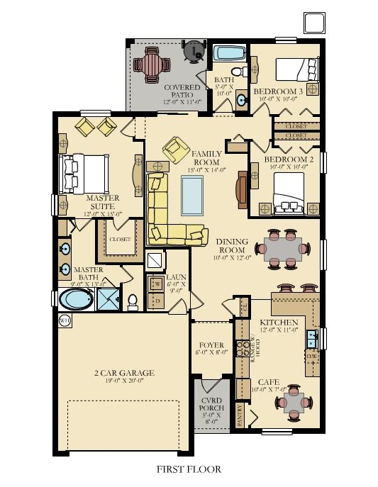 What do you think of the furniture layout of this home