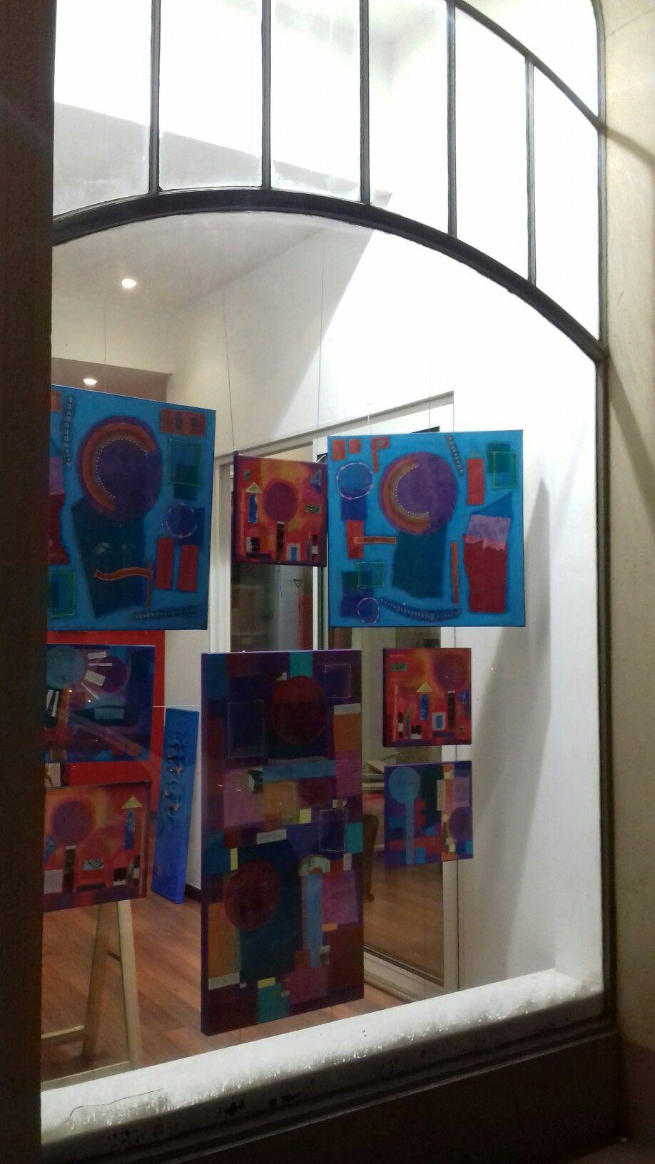 Kathleen Gilroy artwork.  My work on show. Amusons La Galerie Douai kathleengilroy.net