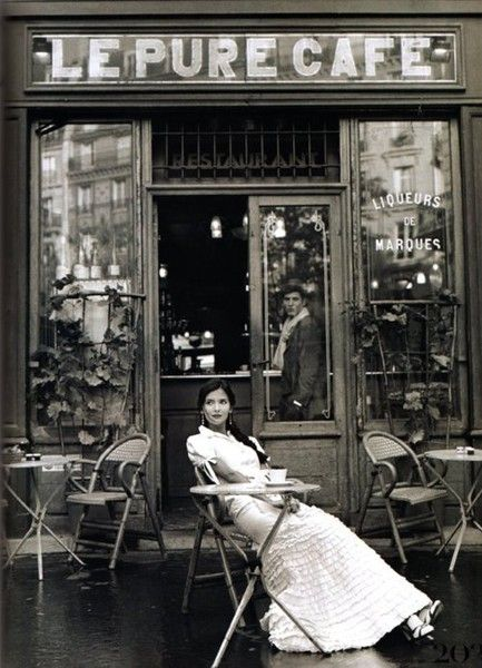 Image result for vintage french cafe girls