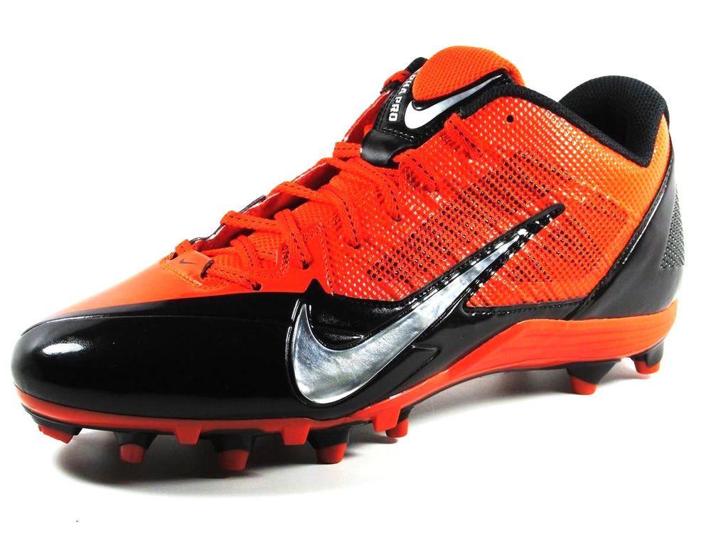 73e37a2ec Nike Alpha Pro Low TD Football Lacrosse Cleats Size 13.5 Orange Black  Nike   LowTDFootballLacrosseCleats