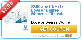 Tri Cities On A Dime Save 2 00 On Dove Or Degree Women S Clinical Prot Clinic Antiperspirant Deodorant Printable Coupons
