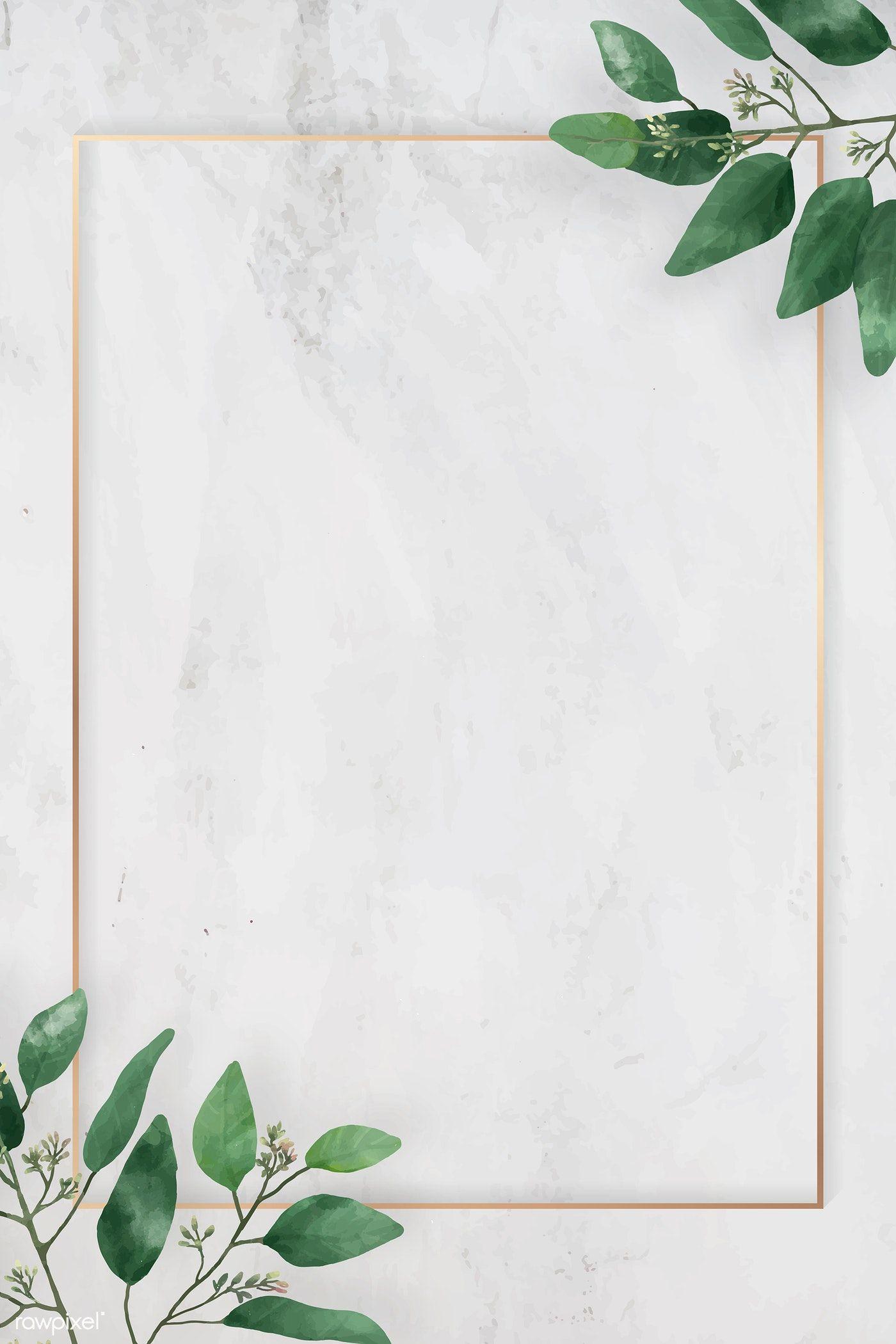Download Premium Vector Of Blank Rectangle Camellia Leaves Frame Vector Flower Background Wallpaper Floral Poster Artsy Background