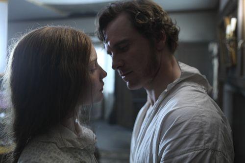 "Michael Fassbender (Mr. Rochester) & Mia Wasikowska (Jane Eyre) in  ""Jane Eyre"" (2011)"