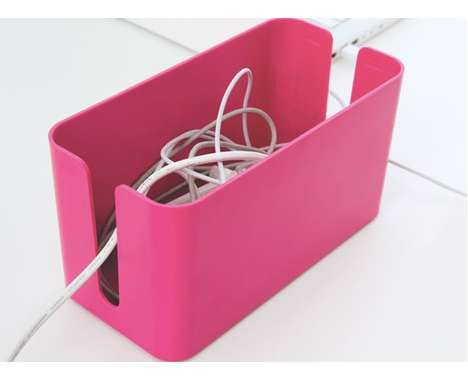 61 Clever Cord Organizers - From Grain Storage Gadget Docks to Cutlery Cable Clips (CLUSTER)