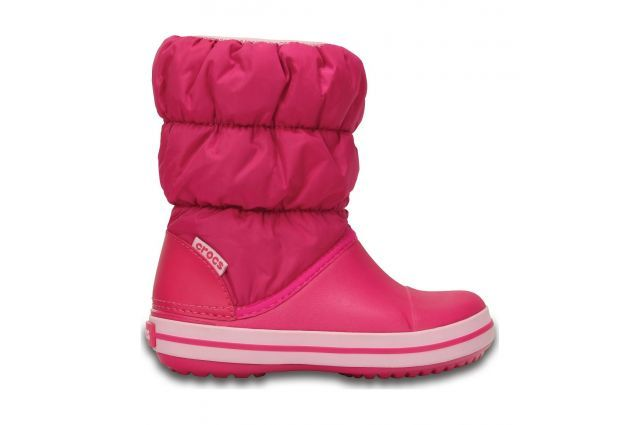Crocs Winter Puff Boot Kids Candy Pink