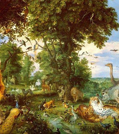 An Artist S Interpretation Of The Biblical Garden Of Eden Biblical Garden Garden Of Eden Eden