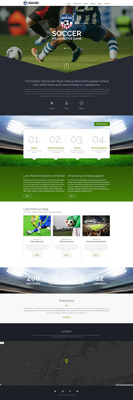 Template Soccer Club Responsive Joomla Template Joomla - Soccer website templates