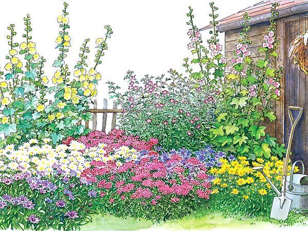 ein bauerngarten-beet zum nachpflanzen - mein schöner garten, Garten ideen