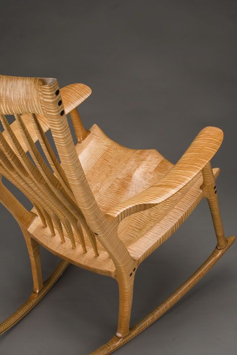 Sam Maloof-inspired piece, crafted by Scott Morrison