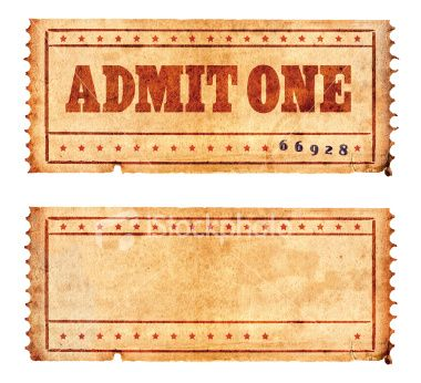 stock-photo-3121869-two-vintage-ticketsjpg (380×346) vintage - blank ticket