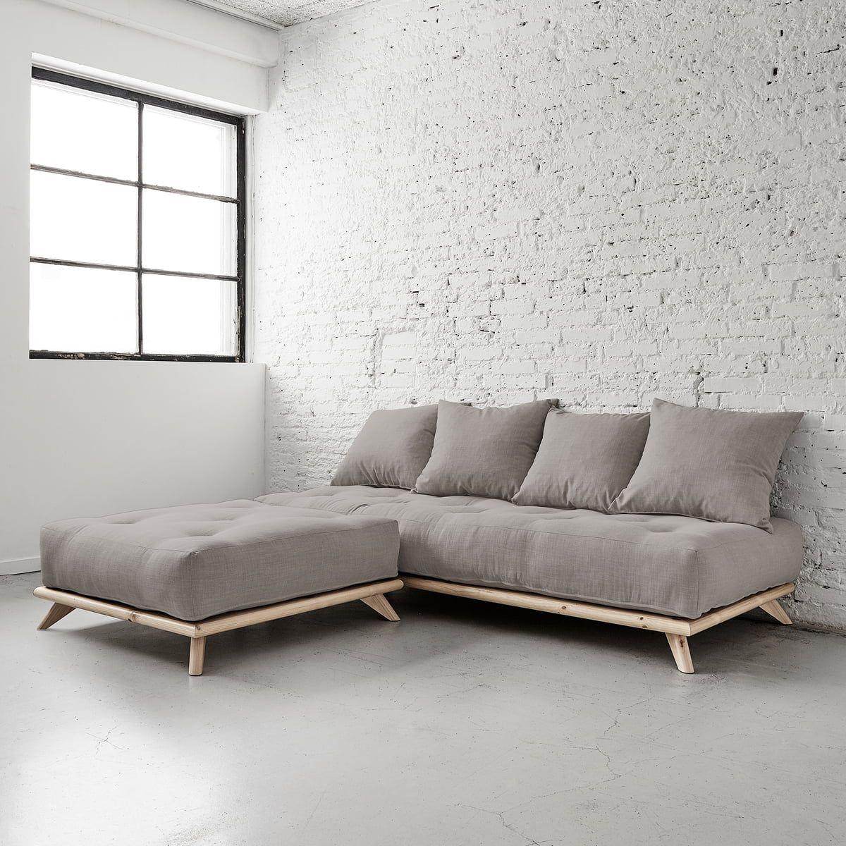 Karup Design Senza Sofa, Kiefer natur / granitgrau in