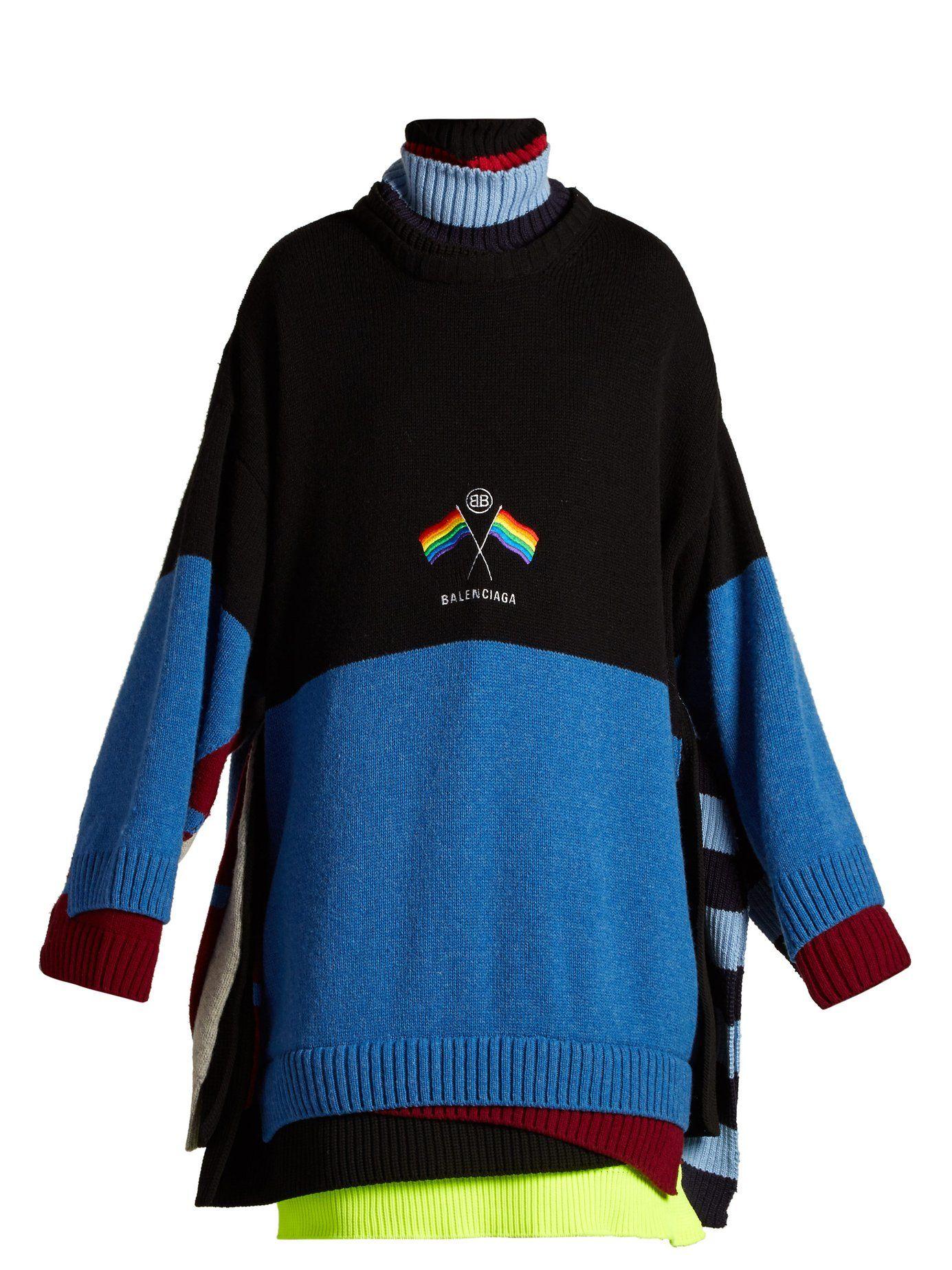 Logoembroidered layered sweater Balenciaga