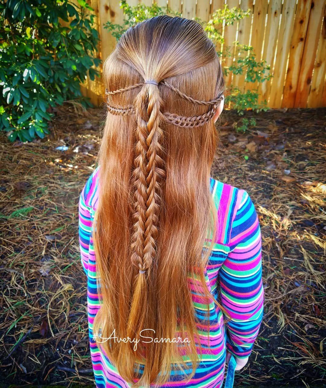 Split five strand braid twist braid four strand braid braid