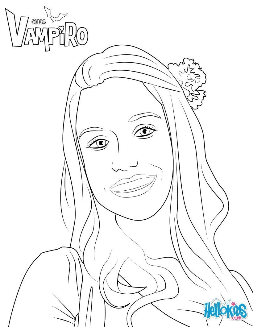 Marilyn Coloring Page From Chica Vampiro More Chica Vampiro