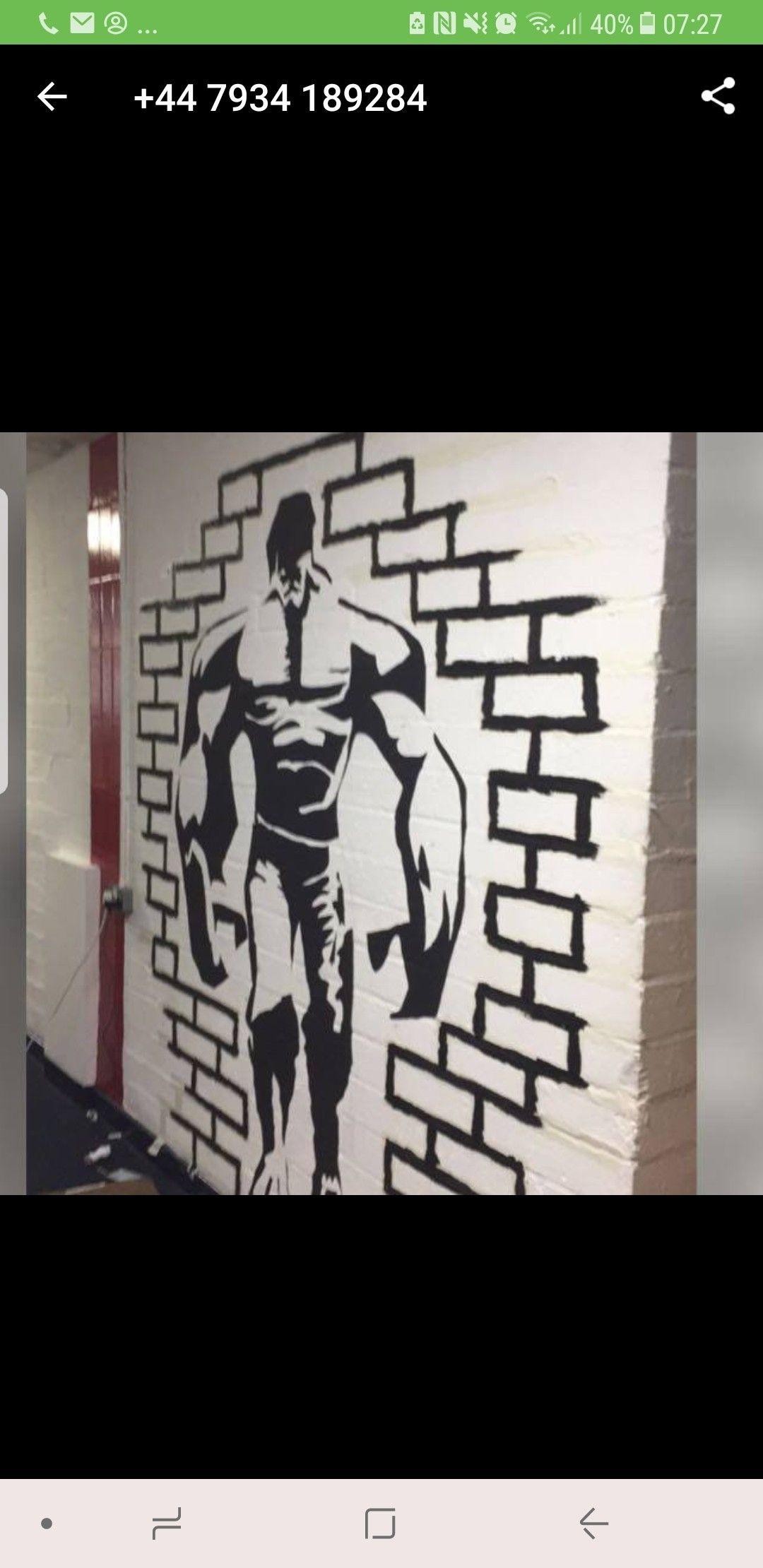Kaseerashraf wallart gym outlinegymbolton gym wall art