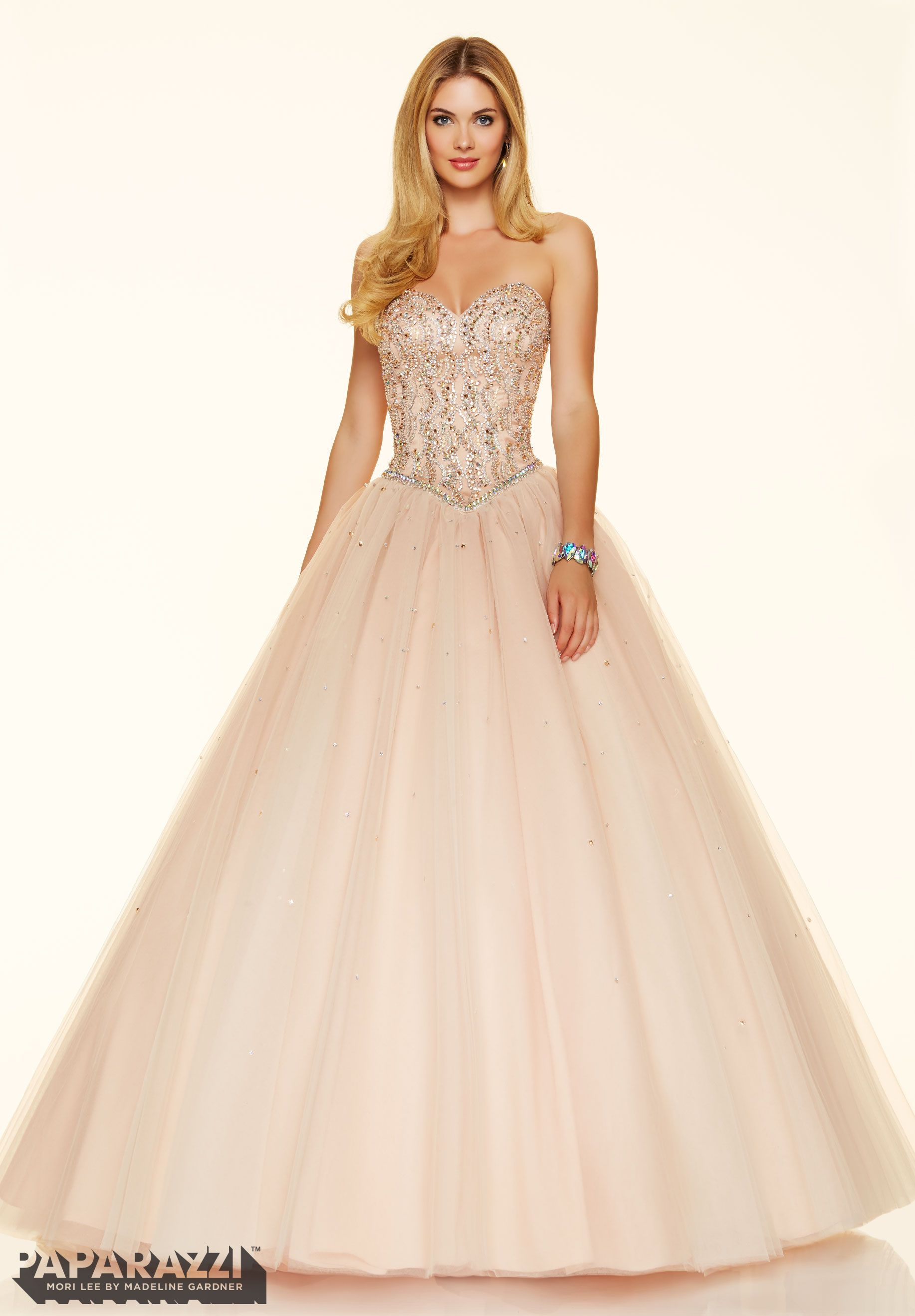 Prom Dress 98011 Jeweled Beading On A Tulle Ball Gown -7390