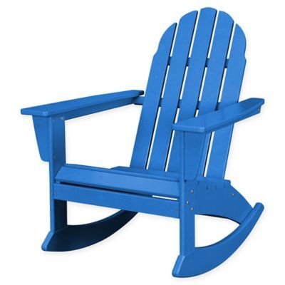 Polywood Vineyard Outdoor Adirondack Rocking Chair In Products