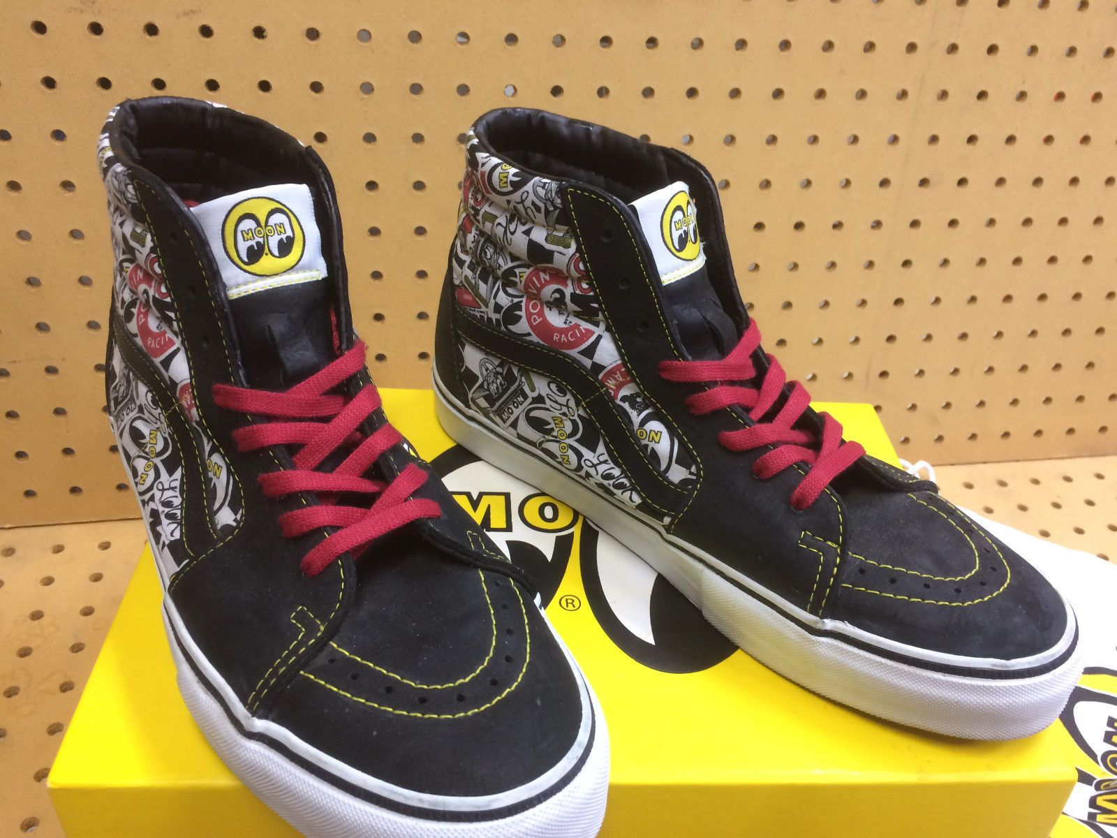 c5aabd1ba71f Details about Vans X Mooneyes Vault Era LX Black White Cyber Yellow ...