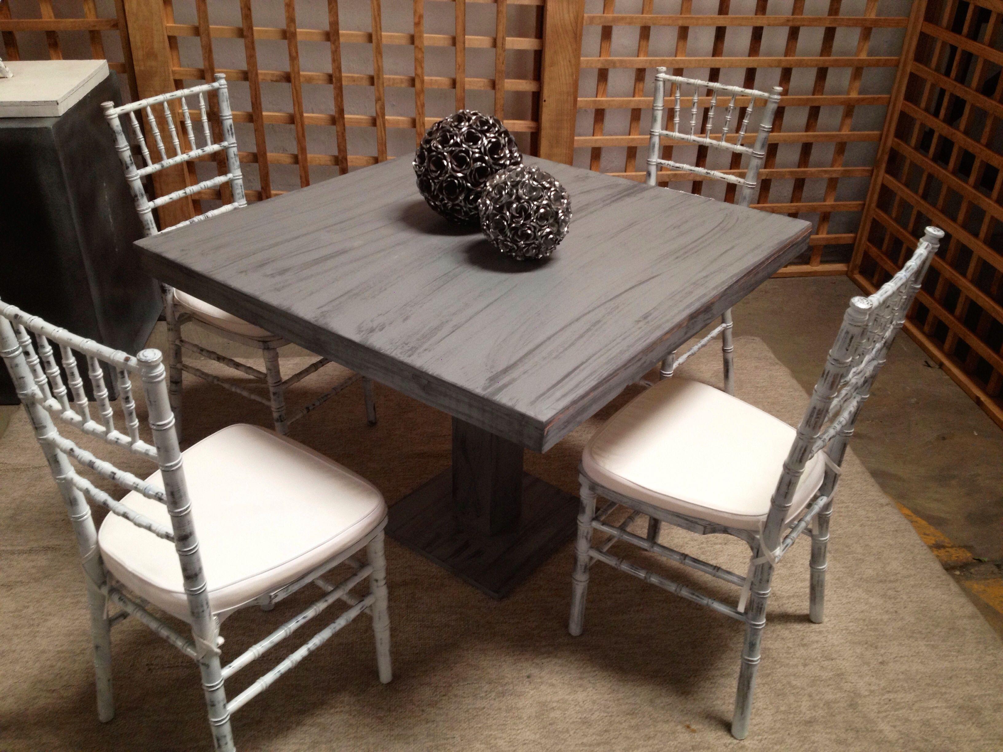 Mesa Domino Con Silla Tiffany Antique Mobiliario Bariconcept  # Muebles Cinthia Medellin