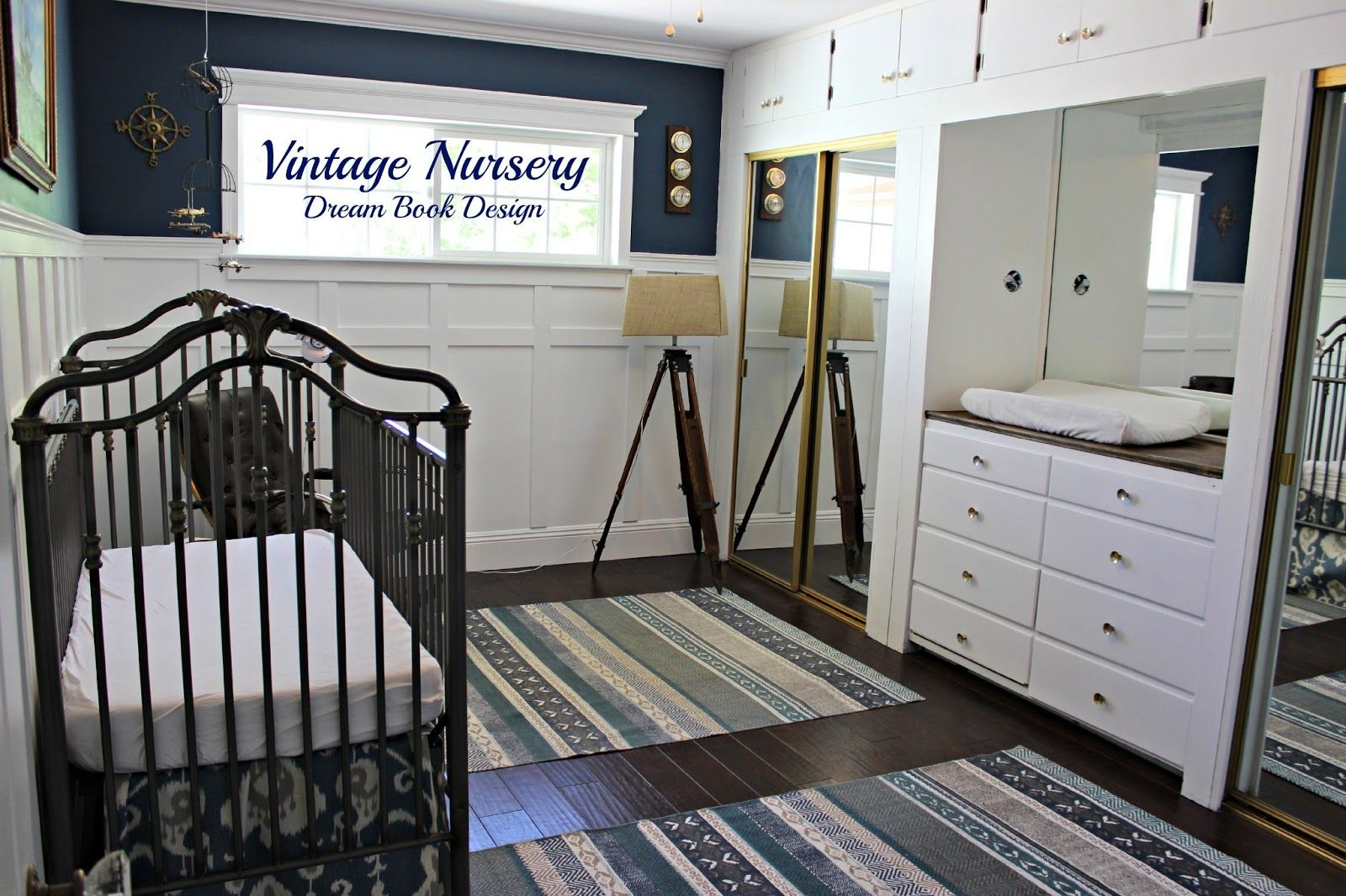 Braylens Vintage Nursery In The New Home - Dream Book Design love the board and batten