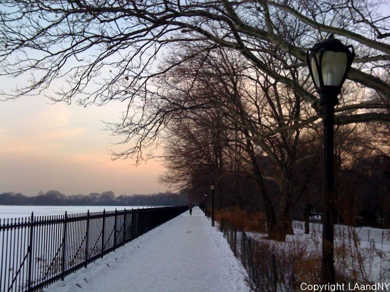 my morning run...leave your inhibtions at the door...jacqueline kennedy onassis reservoir...any idea how cold it was - freezing!