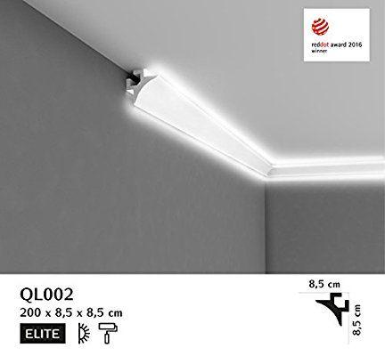 Bestseller Licht Deckenleiste Ql002 Pramierte Eckleiste Fur Indirekte Beleuchtung 2m Lange 85mm Hohe Indirekte Beleuchtung Beleuchtung Licht