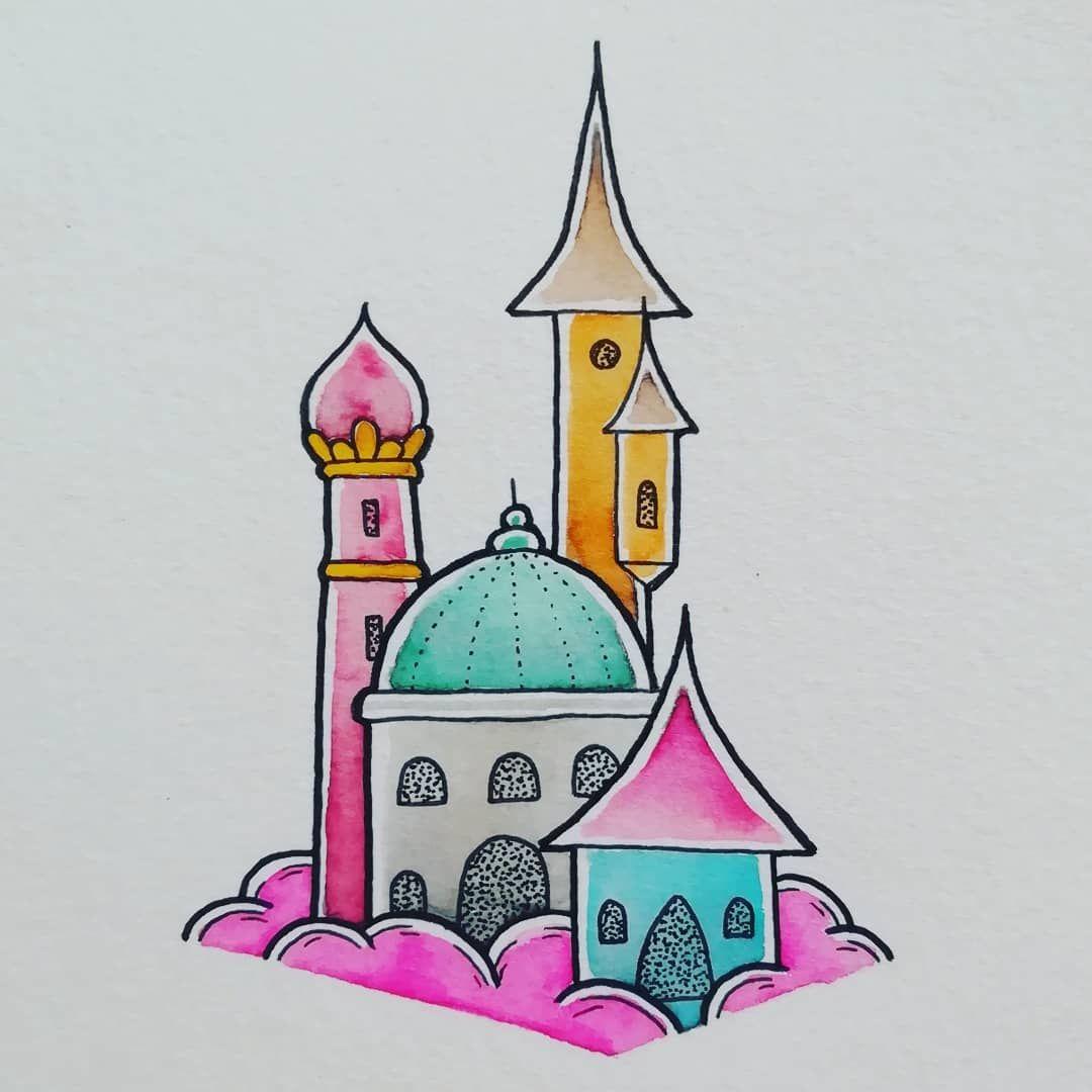 Détail planche A3 Flashs château enchanté 03/2020 .  #original #tattoodesign #vehemdeh .  #handmade #flashtattoo #flash #color #tattoo #landscape #landscapetattoo  #castle #tower #chateau #tour #vehemdehtattoo #byme  #drawing #paysage  #ink #encre #tatouage #couleur  #merveille  #brume #fog #brouillard #feerique #acid #monument #enchantedcastle