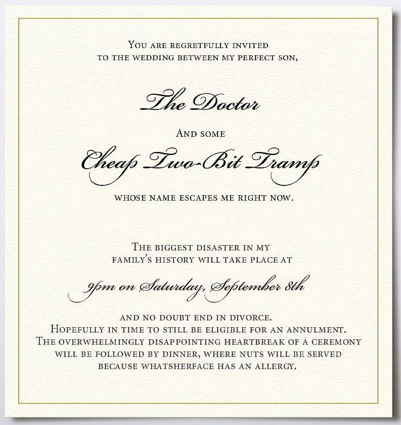 fun wedding invitation wording couple hosting | funny | Pinterest ...