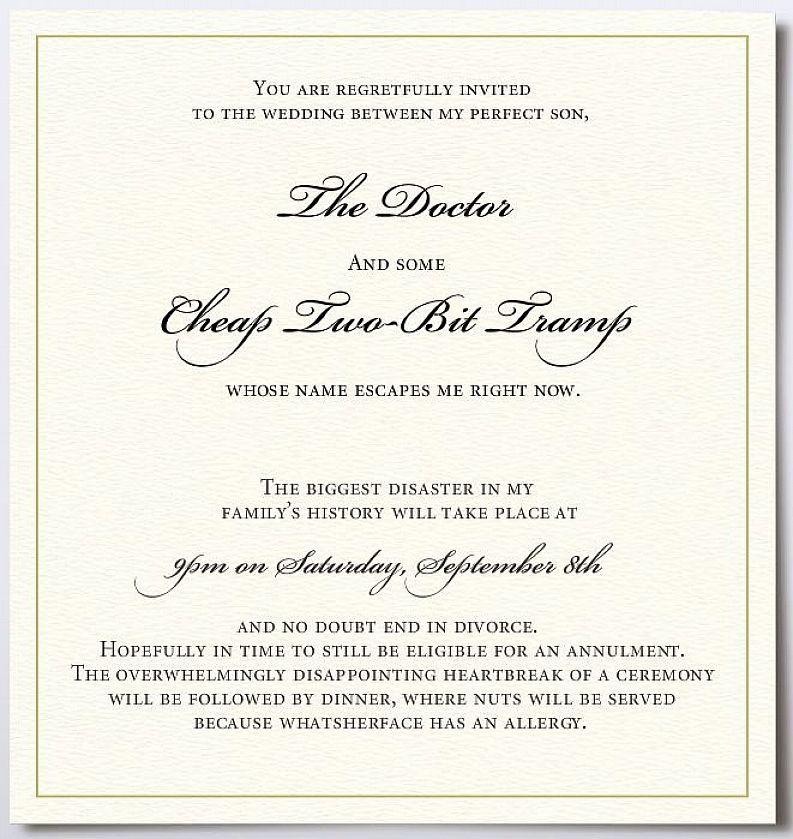 Fun Wedding Invitation Wording Couple Hosting