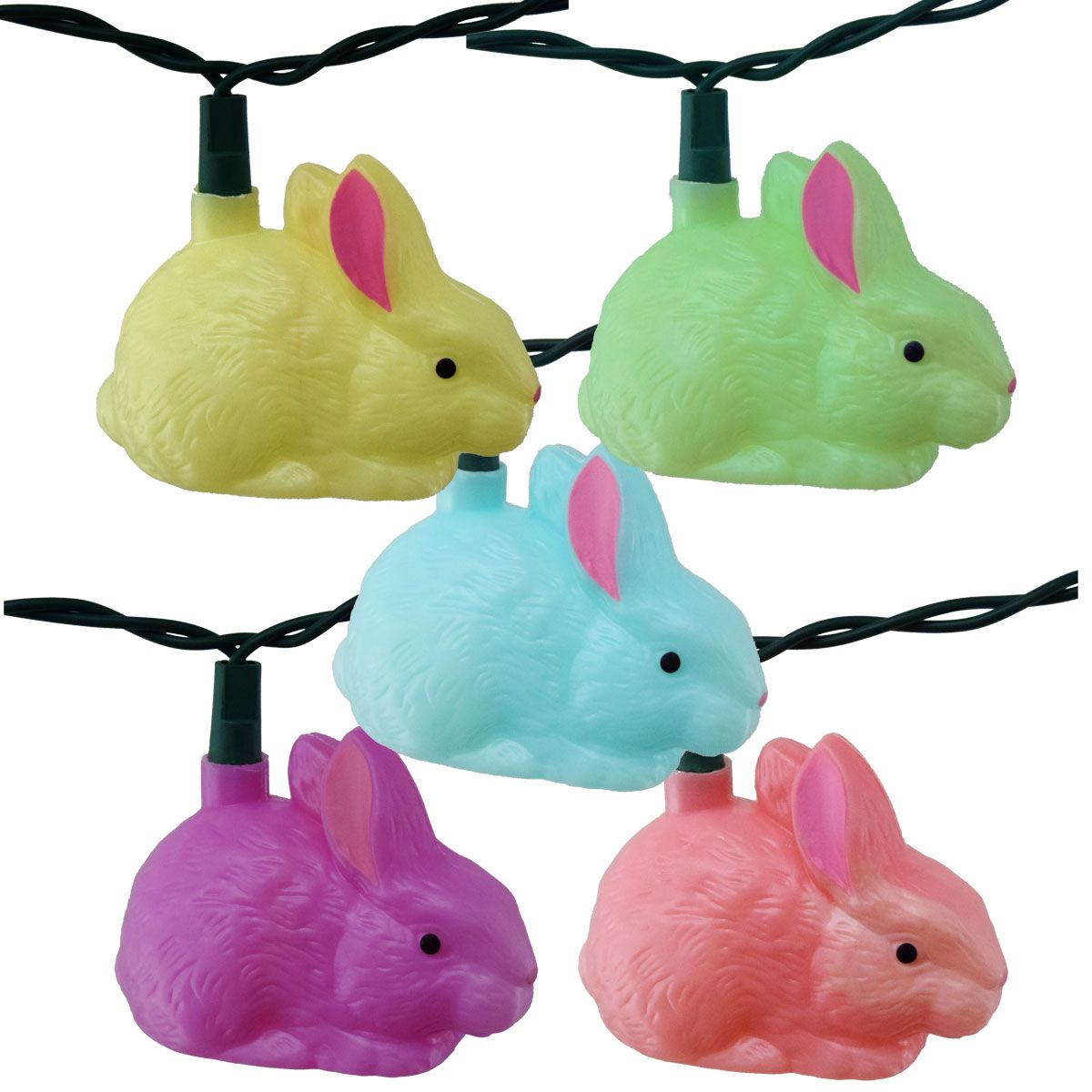 These bunny party string lights are an easy way to brighten up your easter lights aloadofball Images