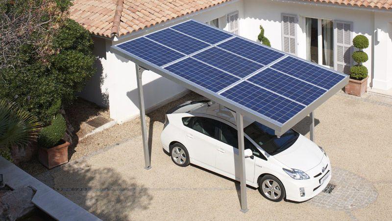 Carport integrated photovoltaic panel g
