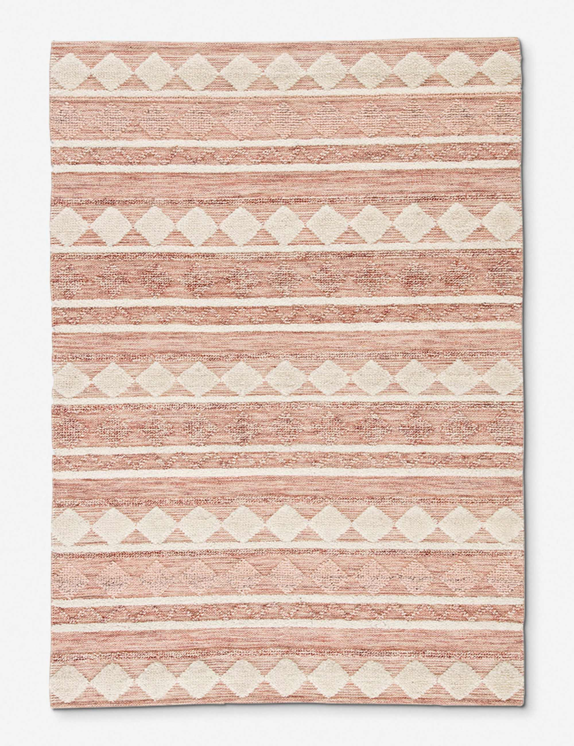 Docia Rug Pink And Ivory In 2020 Pink And Grey Rug Patterned