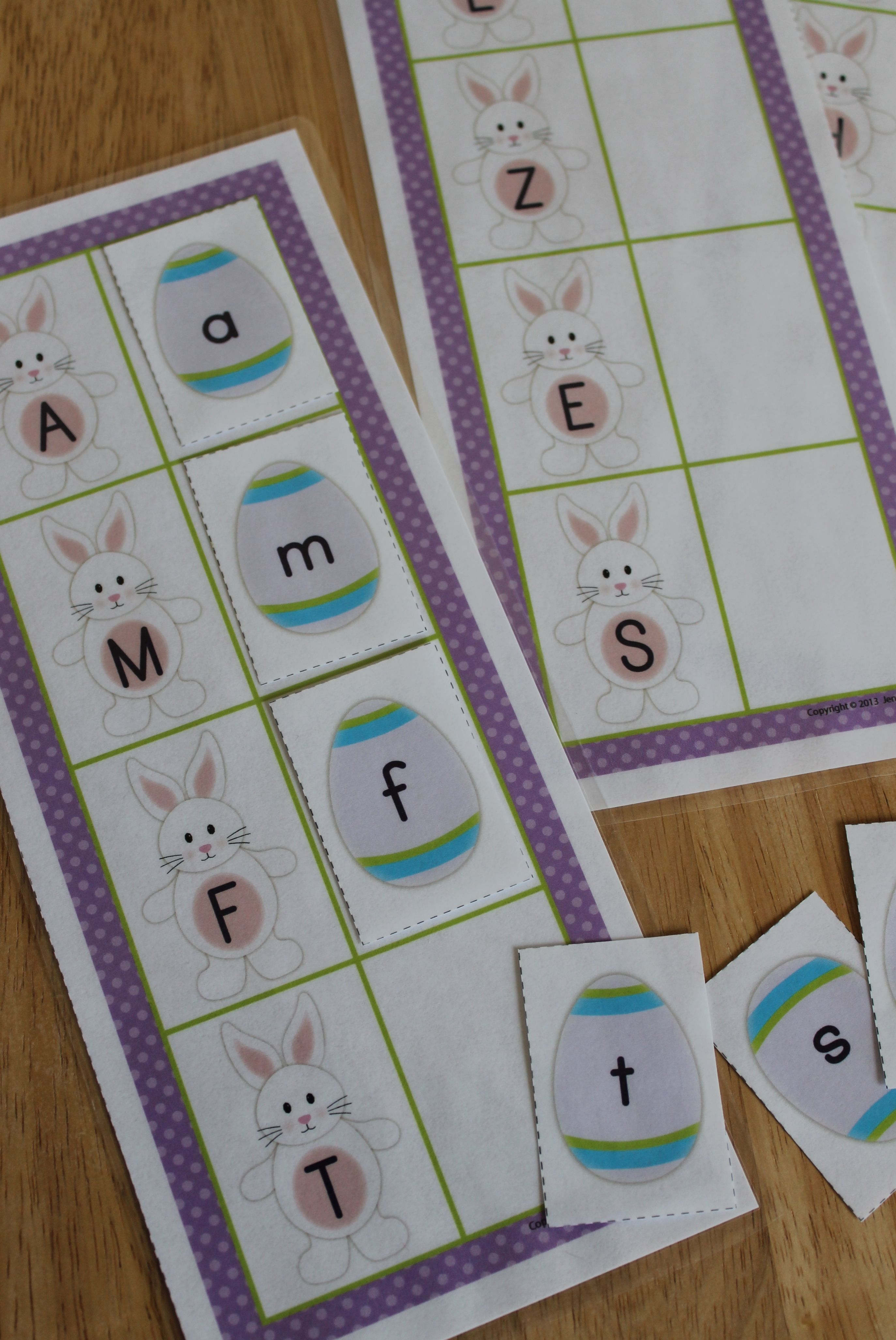 Easter Bunny And Egg Abc Matching Activity For Preschool Pre K Early Childhood Tot School