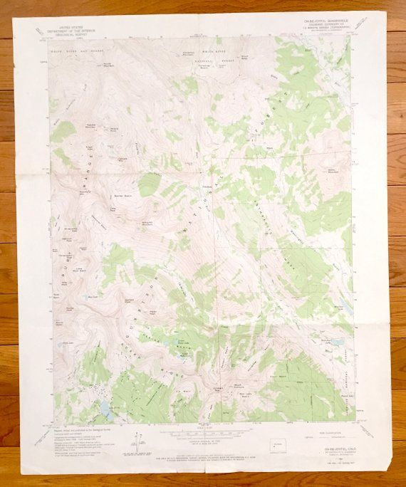 Antique Oh-Be-Joyful, Colorado 1961 US Geological Survey ...