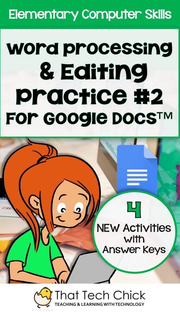Elementary Word Processing Editing Practice For Google Docs - Google word processor