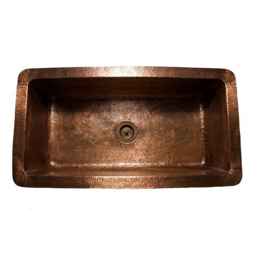 Eclectica Ceri Copper Large Single Bowl Kitchen Sink 850mm