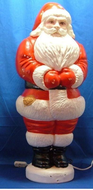 Vintage Christmas Blow Mold ~ Dapol Industries Santa Claus ...