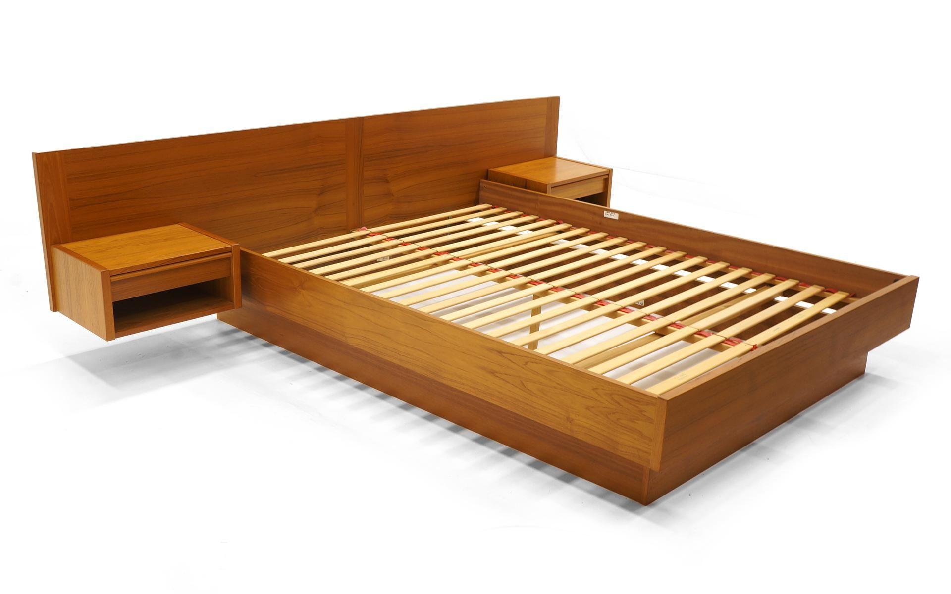 Sophisticated Jesper Danish Modern Teak Queen Platform Bed With