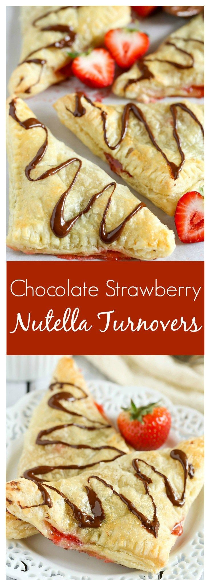 Puff pastry stuffed with chocolate, Nutella, and fresh strawberries. These Chocolate Strawberry Nutella Turnovers make one delicious and decadent dessert! pastry stuffed with chocolate, Nutella, and fresh strawberries. These Chocolate Strawberry Nutella Turnovers make one delicious and decadent dessert!