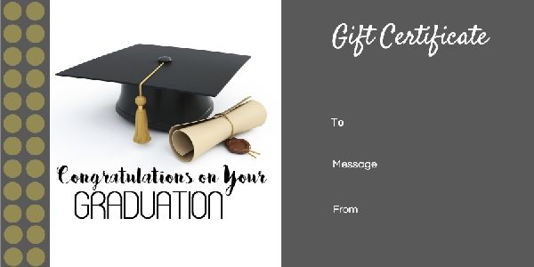 Graduation Gift Certificate Templates 101 Gift Certificate Templates Gift Certificate Template Printable Gift Certificate Unique Graduation Gifts