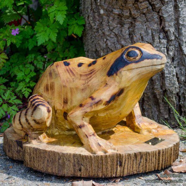 Driftwood Frog Sculpture 7 carved