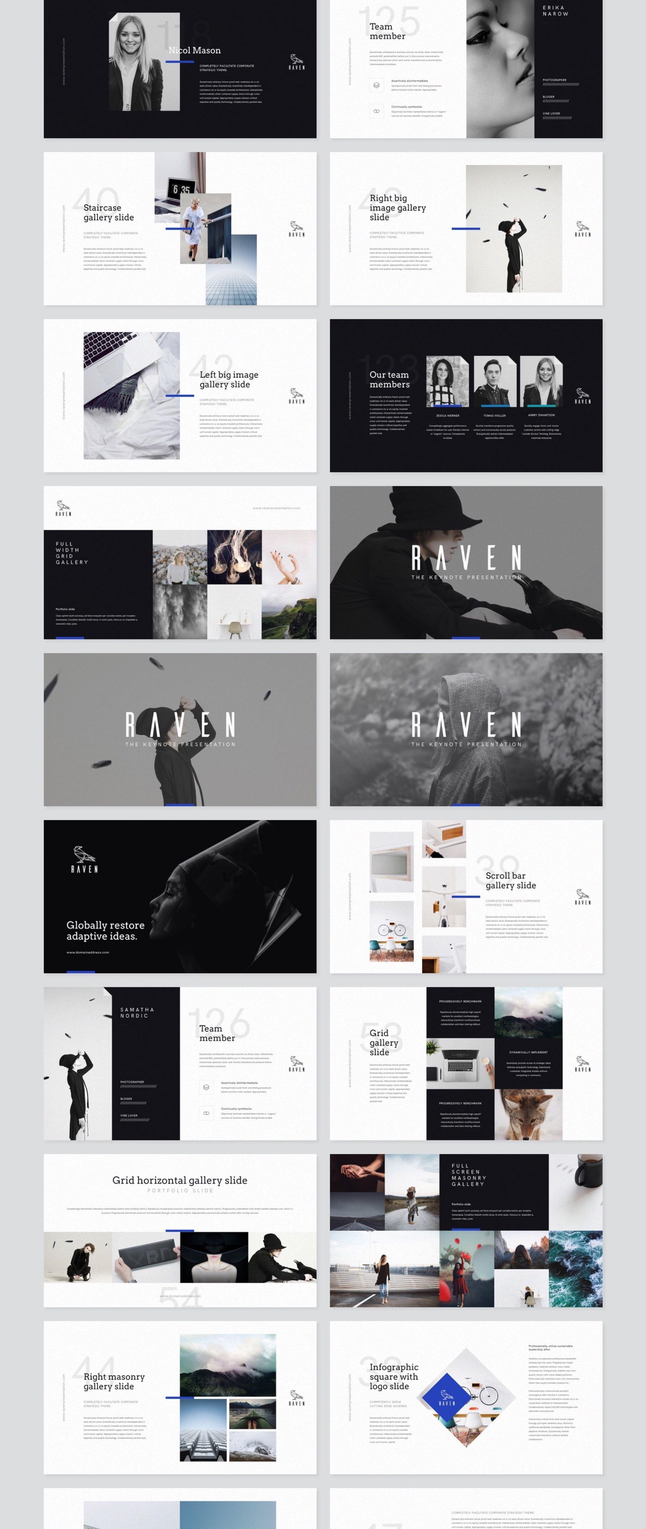 Raven Keynote Presentation — Presentation on UI8   Graphic desing