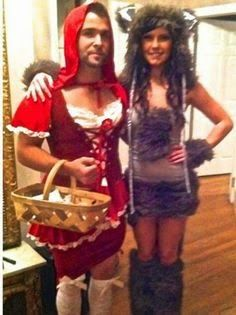 Bad Wolg and Little Red Riding Hood Couple Halloween Costume ...