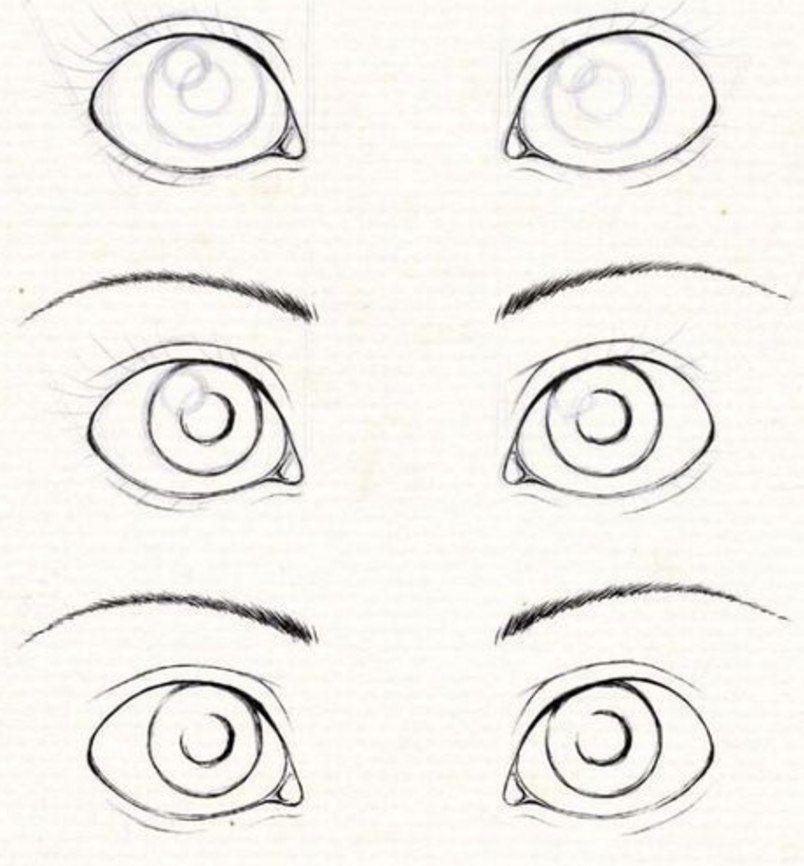 Рисунки легкие глаза для детей