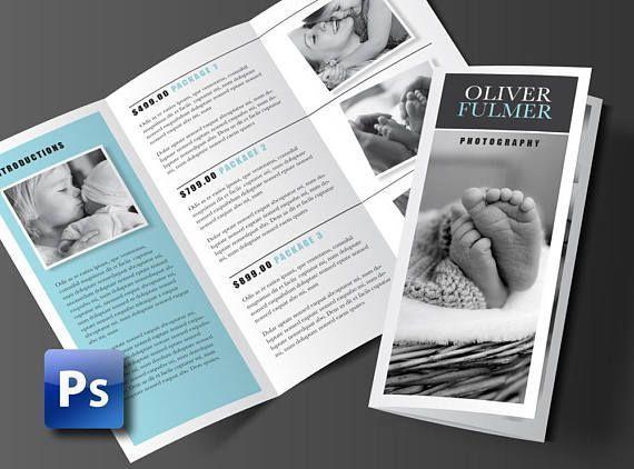 Trifold Brochure Template Photoshop Template Business Brochure