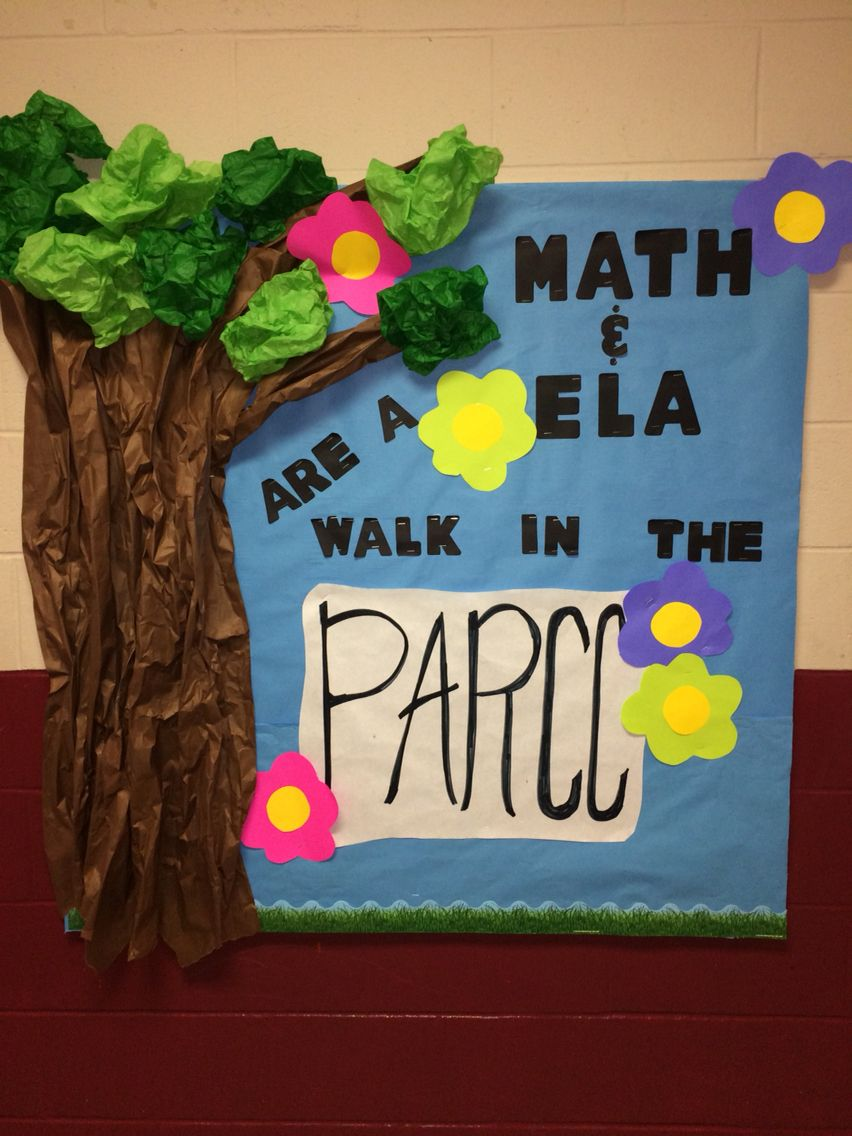 Classroom Motivation Ideas : Parcc state test motivation bulletin board get students