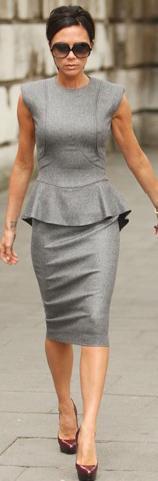 VB Peplum Dress. #victoriabeckham #peplum #trends #fashion