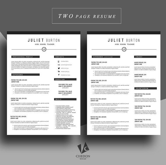 Professional resume template, Cv template, Resume cover letter - professional cv writing samples